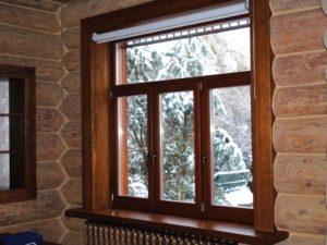 Деревянному дому - древесные окна!
